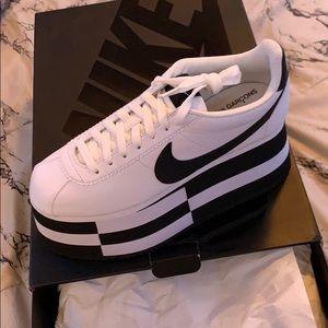 NWT COMME des Garcons x Nike Cortez 'Check White'